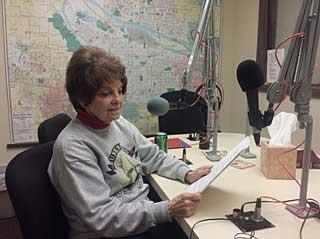 Janet in radio studio